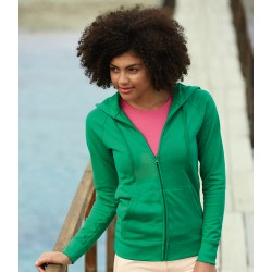 Lady Fit Light Zip Hooded Sweat