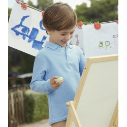Kids Long Sleeve Polo 65/35